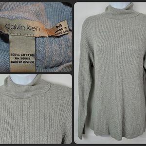 Vintage Calvin Klein Vable Knit Boat Sweater Med